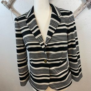 The Limited Black and  white striped blazer